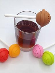 1PC 3.5*11.2cm  Silicone Tea Strainer  Brew Coffee Maker Manual(Random Color)