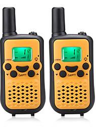 Facile à parler talkie-walkie 446mhz pour les enfants (5 couleurs choisir) sortie 0.5w 8 canaux jusqu'à 3km-5km aaa batterie alcaline