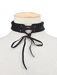 Dame Kort halskæde Smykker Butterfly Form Stof Mode Personaliseret Euro-Amerikansk Sort Lilla Smykker For Daglig Afslappet 1 Stk.