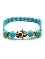cheap -Men's Women's Turquoise Evil Eye Strand Bracelet - Magnetic Therapy Evil Eye Black Blue Dark Red Bracelet For Gift