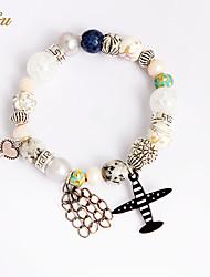 Femme Filles´ Chaînes & Bracelets Charmes pour Bracelets Bracelets de rive Cristal Perle imitée Strass Imitation de diamantNaturel Amitié