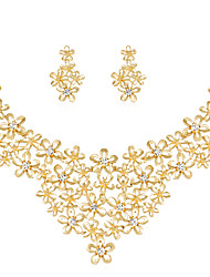 cheap -Women's Jewelry Set - Rhinestone, Gold Plated Flower Classic, Fashion Include Gold For Wedding / Party / Special Occasion