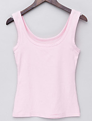cheap -Women's Tank Top - Solid Color, Modern Style