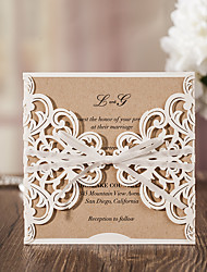 cheap -Wrap & Pocket Wedding Invitations 50-Thank You Cards Response Cards Invitation Sample Greeting Cards Mother's Day Cards Baby Shower Cards