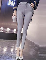 2016 nuovo inverno coreano jeans stretch a vita alta piedi indossato pantaloni matita donne