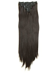 cheap -Synthetic Hair 58cm 150g with Clips 16 Clip in Hair Extensions False Hair Hairpieces Synthetic 23inch Long Straight Apply HairpieceD1015 2/33#
