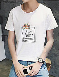 Hommes&# 39; impression nouvelle t-shirt à manches courtes été talonnage chemise chat de vent aberdeen de poche