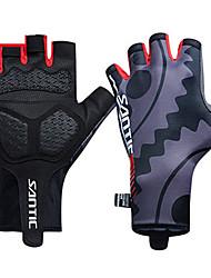 cheap -SANTIC Sports Gloves Bike Gloves / Cycling Gloves Breathable Wearproof Anti-skidding Protective Fingerless Gloves Polyester Elastane