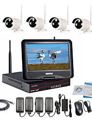 economico -strongshine® Wireless IP Camera con 960p / infrarossi / impermeabile e NVR con i kit lcd combo 10.1inch