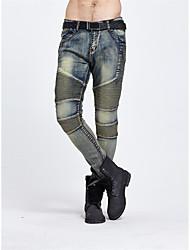 Masculino Moderno Cintura Média strenchy Justas/Skinny Calças,Lápis Côr Sólida Moderno,Côr Pura Clássico