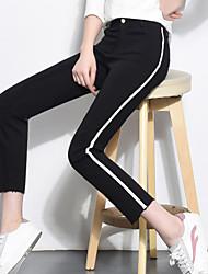 Sign 2017 spring diamond pattern pants stretch pants casual pants pantyhose snag Baopei