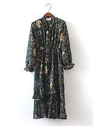 versão coreana do pequeno floral halter rendas solta selvagem chiffon plissado feminina vestido longo retro fresco