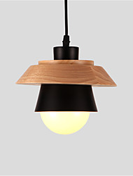 cheap -Northern Europe Simplicity Modern Wood Pendant Light Metal Living Room Dining Room Cafe Lighting