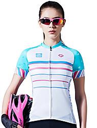 SANTIC Maillot de Cyclisme Femme Manches Courtes Vélo Maillot Hauts/Top Séchage rapide Respirable Confortable Anti-transpiration 100 %