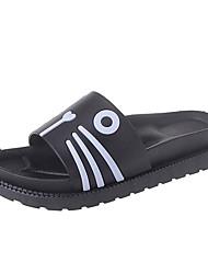 Da donna Pantofole e infradito Sandali Comoda PU (Poliuretano) Primavera Estate Casual Piatto Bianco Nero Piatto