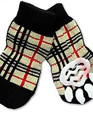 cheap -Cat Dog Socks Cute Casual/Daily Holiday Birthday Reversible Keep Warm Fashion Sports Wedding Plaid/Check Rainbow For Pets