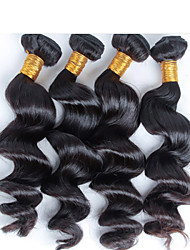 cheap -4 pcs/ lot Free Shipping Unprocessed Virgin Queen Brazilian Human Hair, Brazilian Loose Wave Virgin Hair