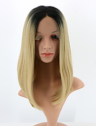 Short Bob Lace Front Wig Synthetic Ombre Blonde Wig for Woman Heat Resistant Fiber Hair