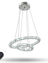 cheap -Dimmable Crystal Chandeliers Indoor LED Pendant Lighting Ring Lighting with 37 W for Dining Room