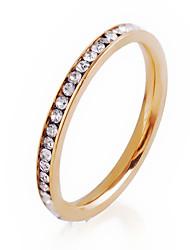 baratos -Mulheres Anéis Grossos Anel Personalizada Circular Fashion Euramerican Estilo simples Formais Cristal Liga de Zinco Redonda Formato
