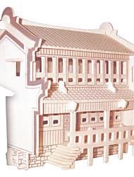 economico -Kit fai-da-te Puzzle 3D Puzzle Giocattoli di logica e puzzle Giocattoli Quadrato Edificio famoso Edificio in stile orientale Casa Per