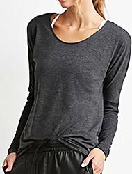 Амазонка&# 39; s новые женщины моды потерять рубашку с длинными рукавами утечка обратно случайные футболки