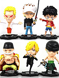 cheap -Anime Action Figures Inspired by One Piece Monkey D. Luffy PVC 10 CM Model Toys Doll Toy Trafalgar Law 6PCS