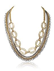 Mulheres Colares Declaração Jóias Forma Geométrica Liga Original Euramerican Jóias de Luxo Bijuterias Destaque EUA Dourado Jóias Para