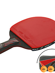 Ping Pang/Table Tennis Rackets Ping Pang/Table Tennis Ball Ping Pang Nanometer Materials Long Handle Pimples 1 Racket 3 Table Tennis