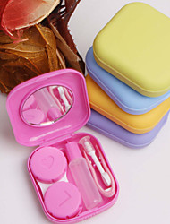 cheap -1 Pc Pocket Mini Contact Lens Case Travel Kit Mirror Container High Quality Cute Portable