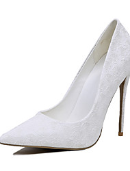 economico -Da donna-Tacchi-Matrimonio-Club Shoes-A stiletto-Finta pelle-Bianco