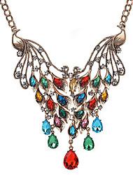 cheap -Women's Animal Shape Vintage Fashion Pendant Necklace Multi-stone Synthetic Diamond Synthetic Gemstones Alloy Pendant Necklace Party