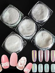 5 bouteilles / set style fashion bonbons couleurs ongles art brillant diy beauté sucre recouvrement holographique pigment brillant poudre