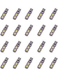 abordables -La decodificación del rasa del tabula del smd de 20pcs t10 9 * 5050 llevó la luz blanca dc12v de la bombilla del coche
