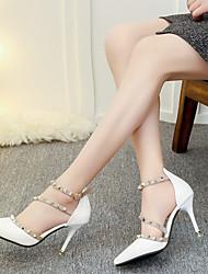 Da donna-Tacchi-Ufficio e lavoro Serata e festa-Comoda Club Shoes-A stiletto-Vernice-Bianco Nero Rosso Rosa