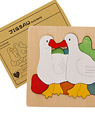 Quebra-Cabeça Quebra-Cabeças de Madeira Brinquedos Pato Animais Crianças Peças