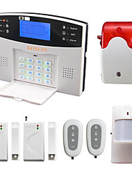 Voice LCD Wireless Burglar GSM Alarm System With Pir Door Detector Strobe Siren SMS Call Alarme Alarma Security Home