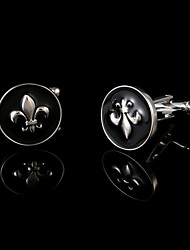 cheap -Newest Vintage Remy Martin Black Circular Men's Cufflinks Wedding Gifts Enamel Shirt Cuff Links Design Jewelry Buttons