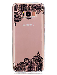 cheap -For Samsung Galaxy  S8 Plus S8 Lace Printing Pattern Case Back Cover Case  Soft TPU for Samsung Galaxy S5 Mini S4 Mini