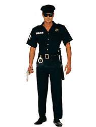 Police Cosplay Cosplay Costumes Party Costume Male Halloween Carnival Festival / Holiday Halloween Costumes Black Solid Fashion