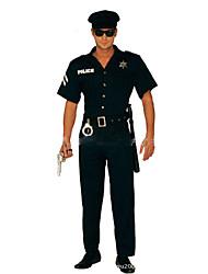 abordables -Policier / Policière Costume de Cosplay Costume de Soirée Homme Halloween Carnaval Fête / Célébration Déguisement d'Halloween Noir