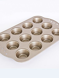 small size  12 cups muffin cake pan non stick cake mould food grade carbon steel FDA