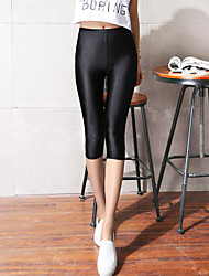 Femme Couleur Pleine Polyester Mince Couleur Pleine Legging,Cet article est à TAILLE CORRESPONDANTE à votre taille normale.