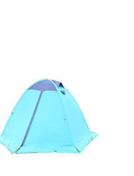 TANXIANZHE® 2 personnes Tente Double Tente de camping Une pièce Tente pliable Résistant à l'humidité Etanche Respirabilité pour Randonnée