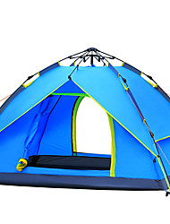 3-4 persons Tent Double Camping Tent One Room Automatic Tent Windproof Ultraviolet Resistant Rain-Proof for Hiking Camping Fiberglass CM