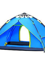 3-4 Pessoas Tenda Duplo Barraca de acampamento Um Quarto Tenda Automática A Prova de Vento Resistente Raios Ultravioleta Á Prova-de-Chuva