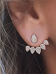 cheap -Women's Stud Earrings Front Back Earrings Rhinestone Costume Jewelry Fashion Euramerican Alloy Teardrop Jewelry For Party Daily