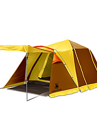 baratos -GAZELLE OUTDOORS 3-4 Pessoas Abrigo e Lona Encerada Duplo Barraca de acampamento Dois Quartos Três Quartos Tenda Dobrada Prova-de-Água A