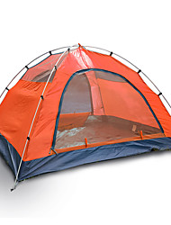 cheap -3-4 persons Tent Double Camping Tent One Room Backpacking Tents Moistureproof/Moisture Permeability Well-ventilated Waterproof Windproof