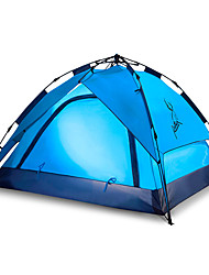 Недорогие -JUNGLEBOA® 3-4 человека Световой тент Тент для пляжа Двойная Палатка Однокомнатная Автоматический тент Водонепроницаемость Компактность